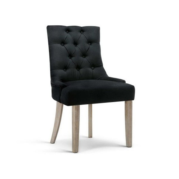 Artiss Dining Chairs Chair French Provincial Wooden Fabric Retro Cafe