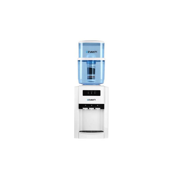 22L Bench Top Water Cooler Dispenser Filter Purifier Three Taps