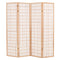 Folding 4 Panel Room Divider Japanese Style 160X170 Cm Natural