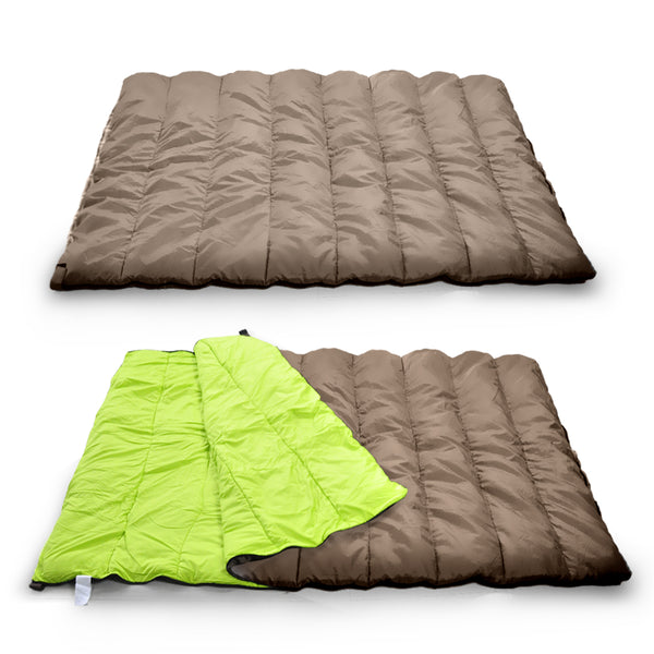 Double Outdoor Camping Sleeping Bag Thermal 220X145Cm