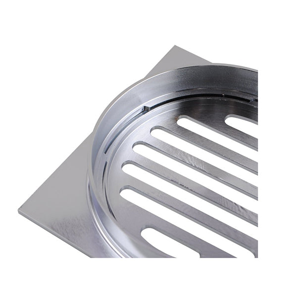 110X110 Mm Square Chrome Brass Floor Waste Shower Grate Drain Outlet