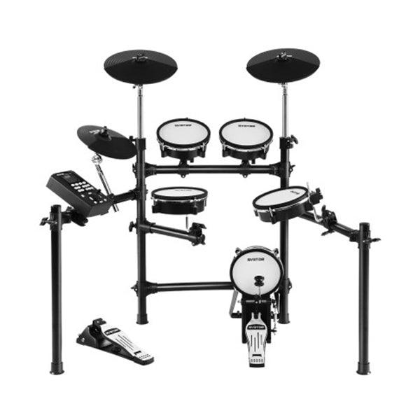 8 Piece Electric Drum Kit Mesh Drums Set Pad Tom Midi For Kids Adults