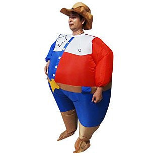 SHERIFF Fancy Dress Inflatable Suit