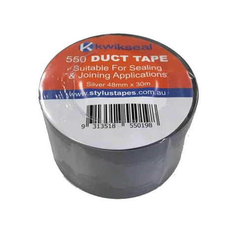 1 Roll Silver Duct Tape 48Mmx30Mx130Um Roll Sealing Pvc Adhesive