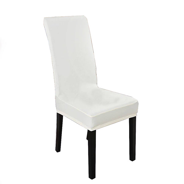 1X Stretch Elastic Chair Covers Dining Room Wedding Banquet Washable White