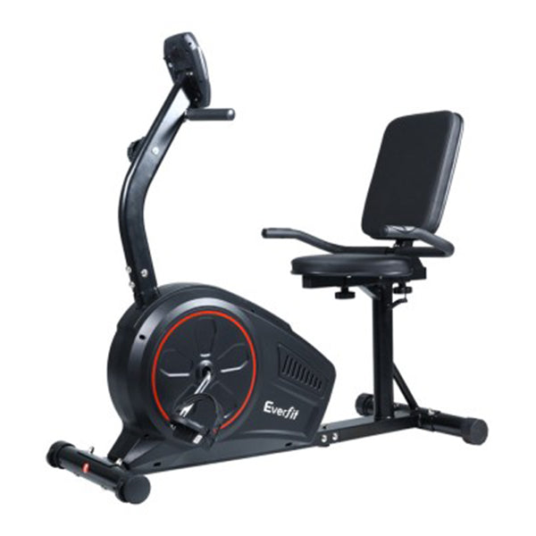 Everfit Magnetic Recumbent Exercise Bike Fitness Trainer Black
