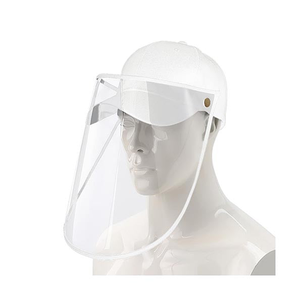 Outdoor Hat Anti Fog Dust Saliva Cap Face Shield Cover Adult White
