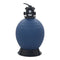 Pool Sand Filter With 6 Position Valve Blue 560 Mm