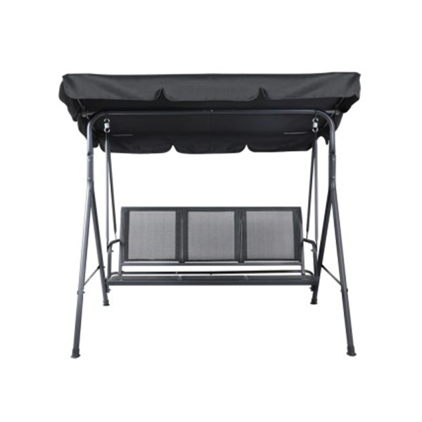 Swing Chair Outdoor Furniture Hanging Hammock Canopy Lounger Black