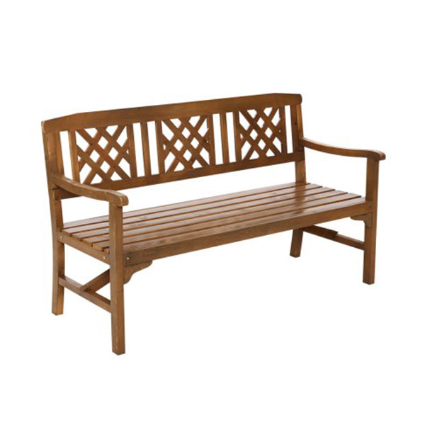 Wooden Garden Bench 3 Seat Patio Furniture Timber Outdoor Lounge Chair