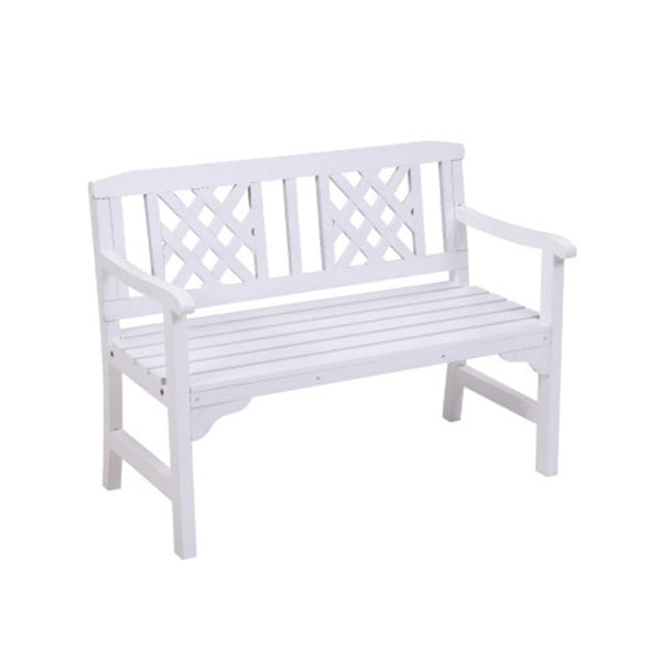Wooden Garden Bench 2 Seat Patio Furniture Timber Outdoor Lounge Chair