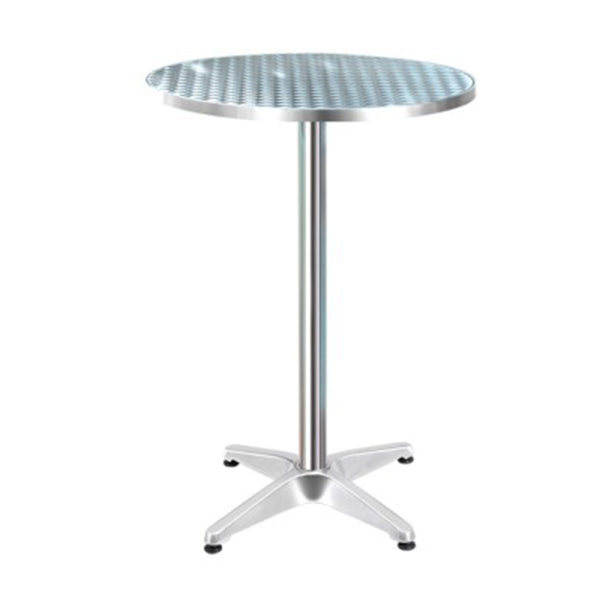 Outdoor Bar Table Aluminium Dining Table Round 70 Cm