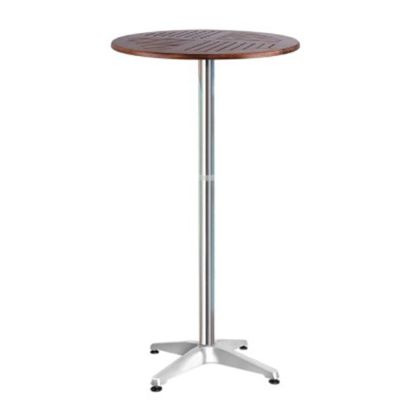 Outdoor Bar Table Furniture Wooden Cafe Aluminium Adjustable Round