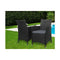 Outdoor Bistro Set Chairs Patio Dining Wicker Garden Cushion X2
