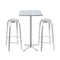Outdoor Bistro Set Bar Table Stools Adjustable Aluminium Cafe 3Pc