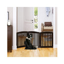 Freestanding Wooden Pet Gate 3 Panel Foldable Fence