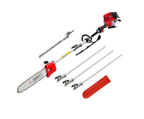 Pole Chainsaw 4 Stroke Petrol Hedge Trimmer Pruner Chain Saw Long