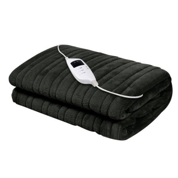 Heated Electric Throw Rug Fleece Snuggle Blanket Washable