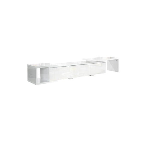 High Gloss Adjustable TV Stand Entertainment Unit 290 cm White TV-GLOSS-290-WH-AB