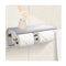 304 Stainless Steel Double Toilet Paper Roll Holder Hook Bathroom