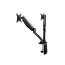 Fully Adjustable Dual Monitor Arm Stand - Black