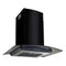 Wall Mounted Range Hood Stainless Steel 60 Cm Black