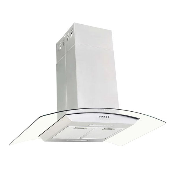 Island Range Hood 90 Cm Stainless Steel Led
