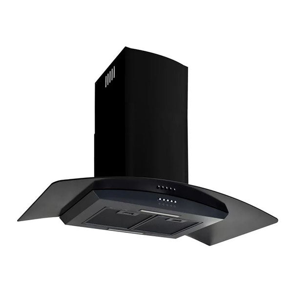 Wall Mounted Range Hood Stainless Steel 90 Cm Black