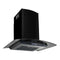 Wall Mounted Range Hood Stainless Steel 756 M H 60 Cm Black