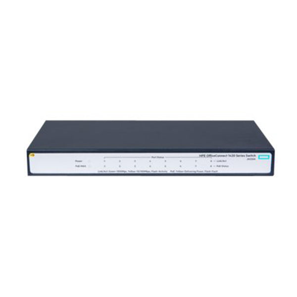 Hpe 1420 8G Poe 64W Switch 8X Gig Poe Ports Fanless Unmanaged