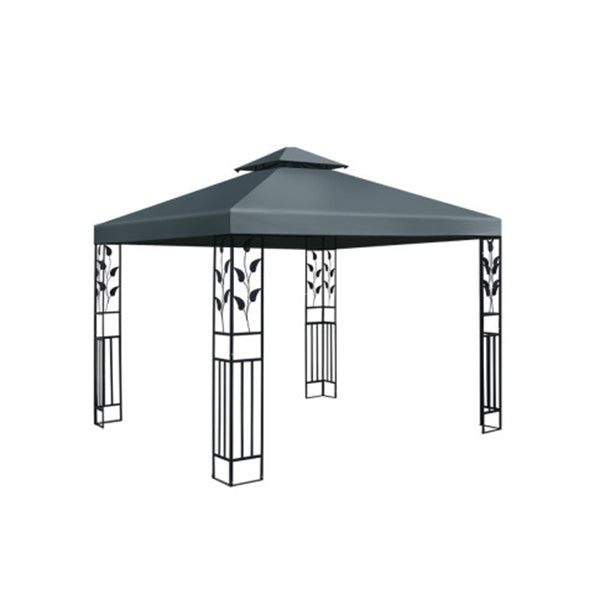 Gazebo Party Marquee Outdoor Wedding Event Tent Iron Art Canopy Grey