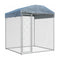 Outdoor Dog Kennel With Canopy Top 193 X 193 X 210 Cm