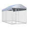 Outdoor Dog Kennel With Canopy Top 382X192X235 Cm