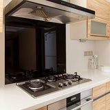 Toughened Black Glass Kitchen Splashback