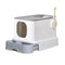 Cat Litter Box Fully Enclosed Toilet Trapping Sifting Odor Control