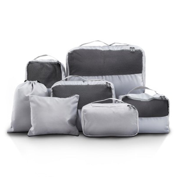 7 Pcs Luggage Organizer Suitcase Sets Travel Packing Cubes Pouch Bag