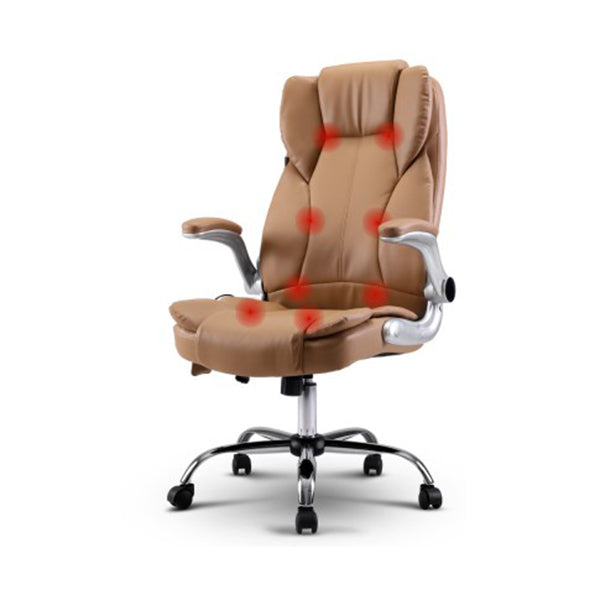 Massage Office Chair Gaming Computer Desk 8 Point Vibration Espresso