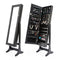 131Cm Mirror Jewellery Cabinet 2X Drawer Lowe Black