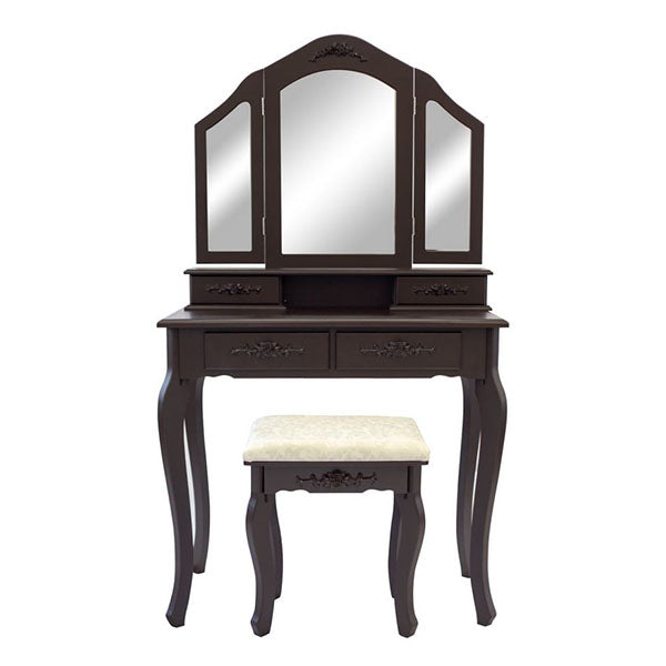 Dressing Table 4 Drawers 3 Mirrors