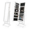 131Cm Mirror Jewellery Cabinet 2X Drawer Lowe White