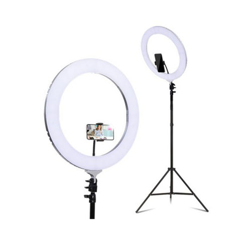 19 Inch Led Ring Light 6500K 5800Lm Dimmable Diva Stand Make Up Studio