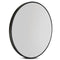 90 Cm Wall Mirror Bathroom Makeup Round Frameless Polished