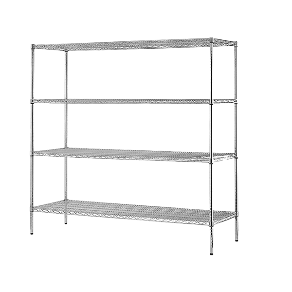 Modular Chrome Wire Steel Shelving (1500x450x1800mm)