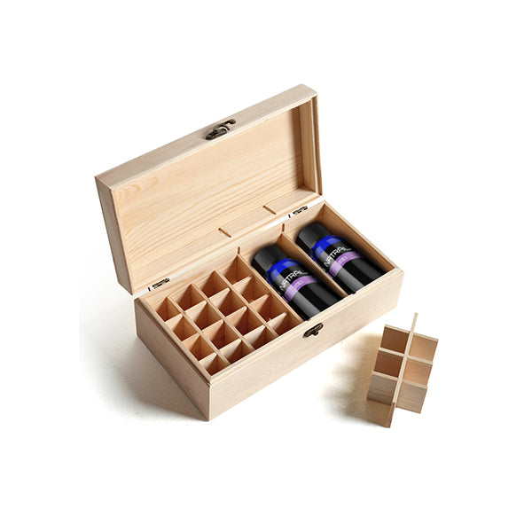 Essential Oil Storage Box Wooden 25 Slots Aromatherapy Container