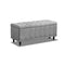 Storage Ottoman Blanket Box Fabric Large Rest Chest Toy Footstool Grey