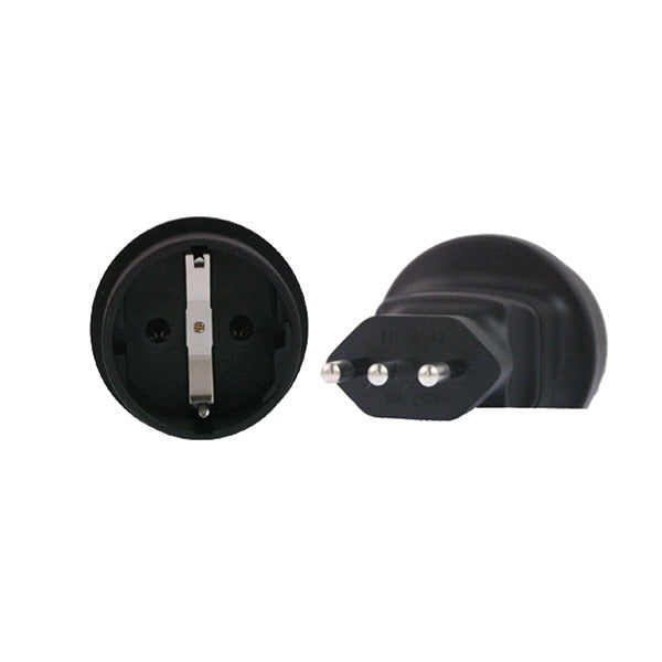 Schuko To Italy 3 Pin Plug Adapter
