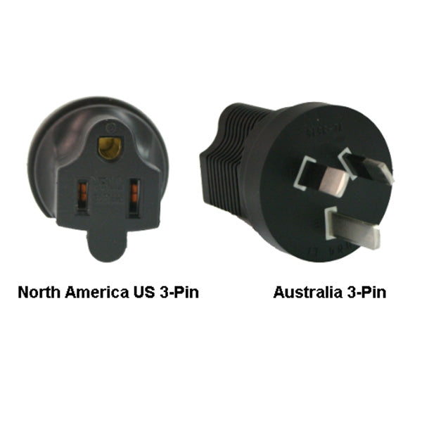North America US 3-Pin To Australia Power Adapter Plug