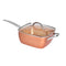 Saucepan Set Frying Pan Non Stick Deep Fry With Glass Lid Cookware Set