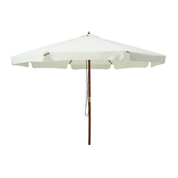 Outdoor Parasol With Wooden Pole 330 Cm