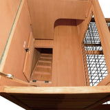 Deluxe Rabbit Cage Hutch with Under-Run